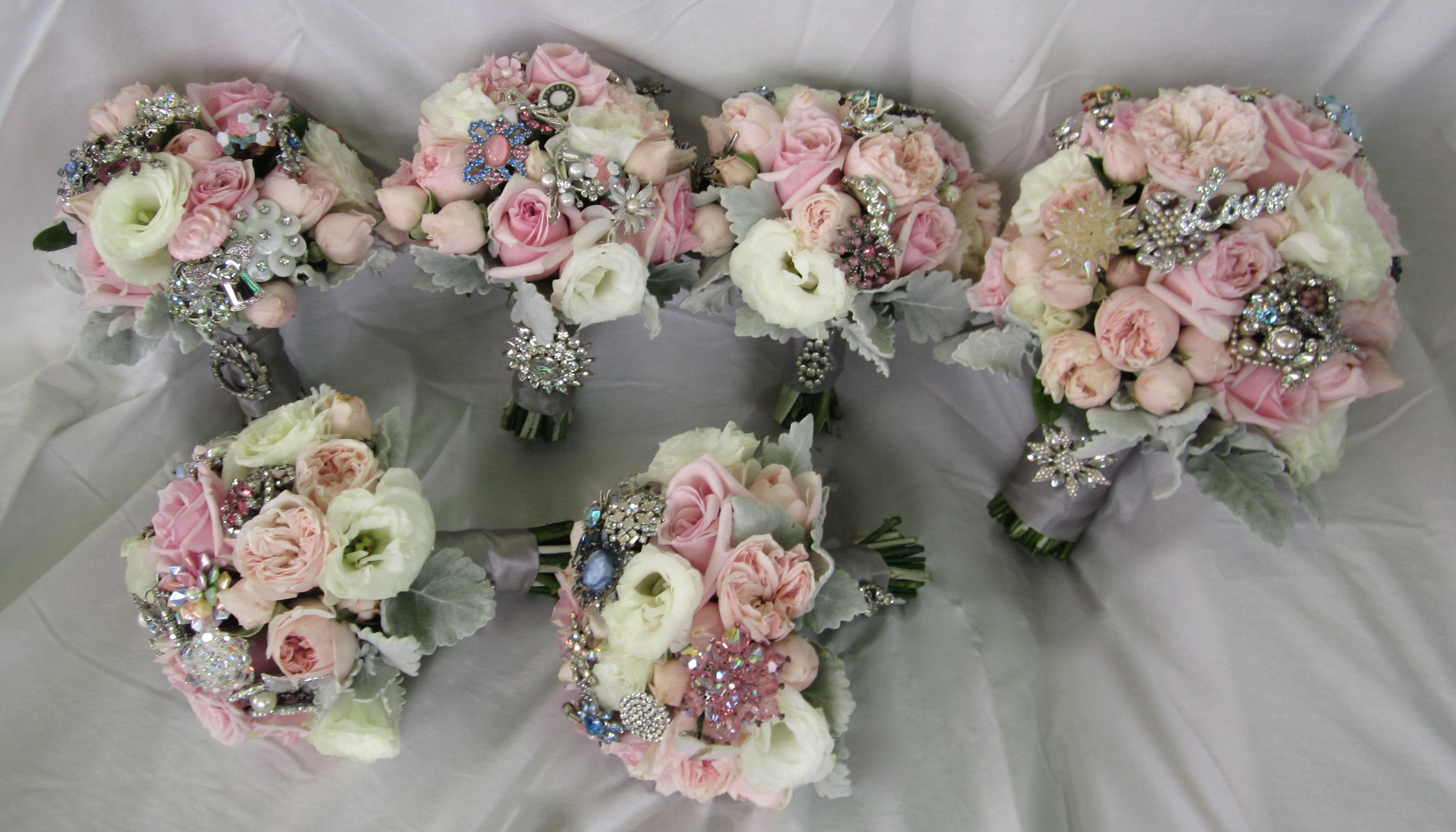 Brooch Bridal Bouquets Springfield Florist Weddings Essex