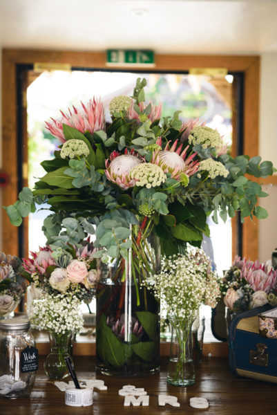 Table Centrepiece with Proteas