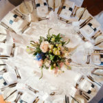 Navy reception flower centrepiece