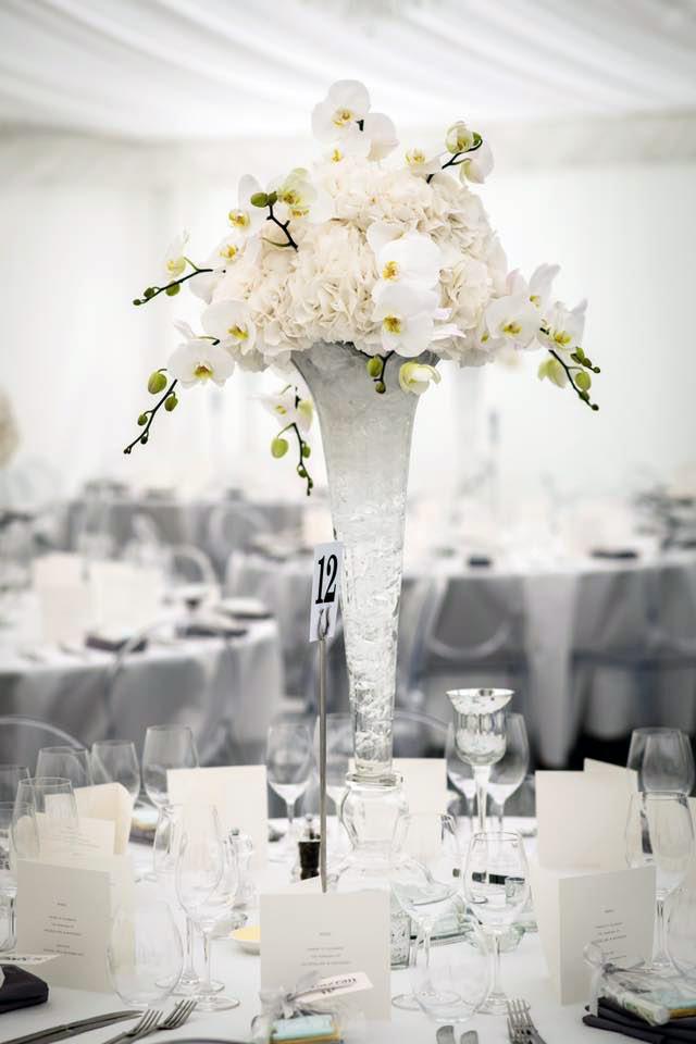 Large Glass Flute Vase