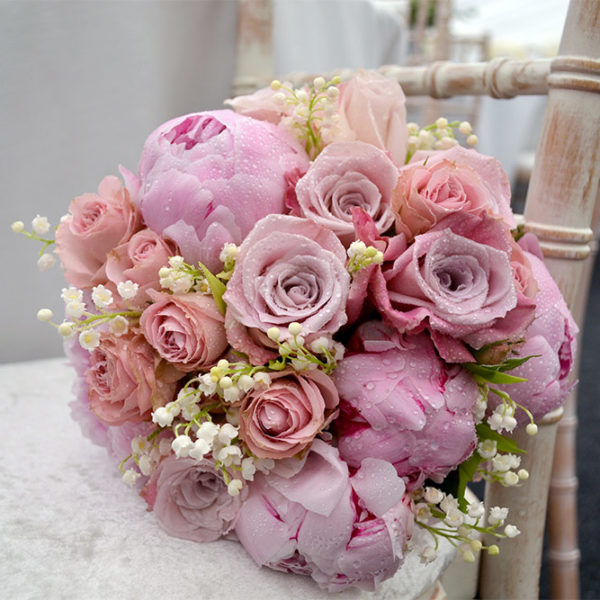 Rose, Peony and Lily of the Valley Bouquet