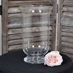 Glass storm lanterns for hire with or without candles