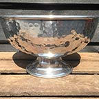 Hammered Metal Bowl Vase