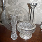 A selection of vintage style glassware